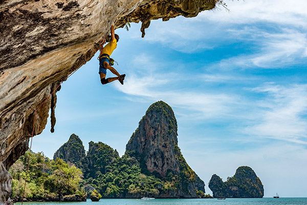 freeclimbing in Thailandia