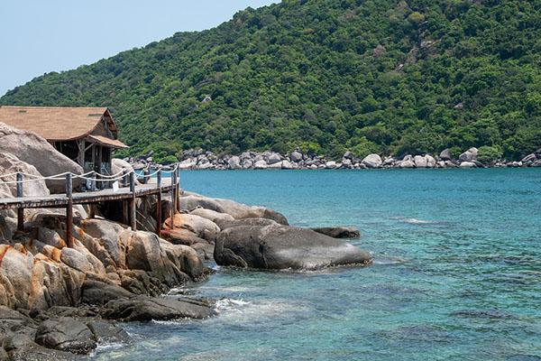 Le isole vicino Koh Samui-la spiaggia di Haad Than