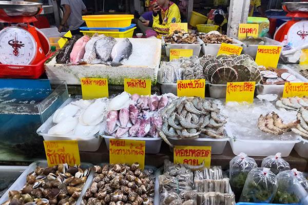 Mercato del pesce Phuket