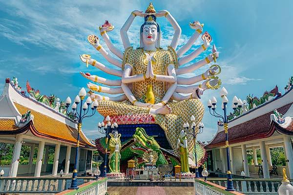Tempio sull'isola di Koh Samui